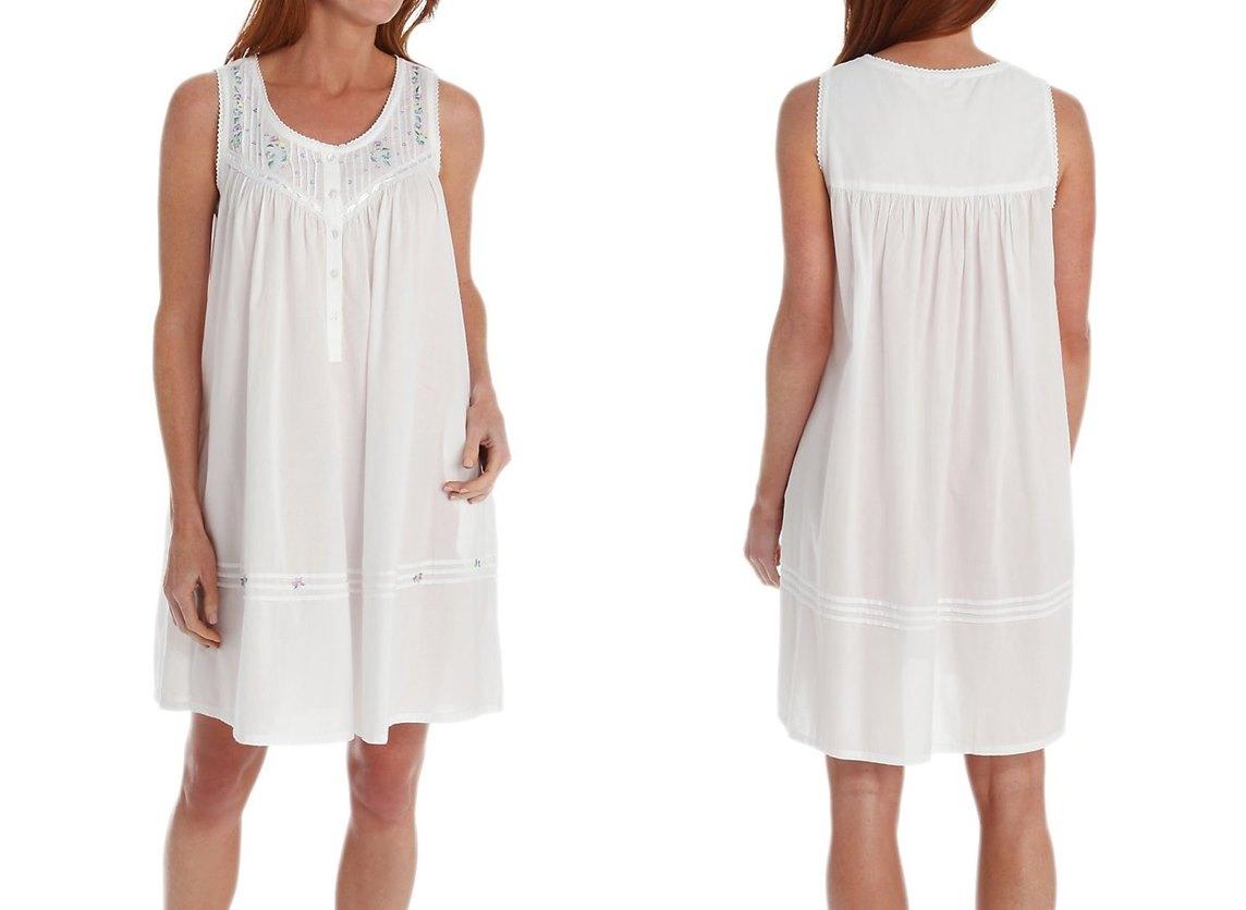 white cotton nightgowns