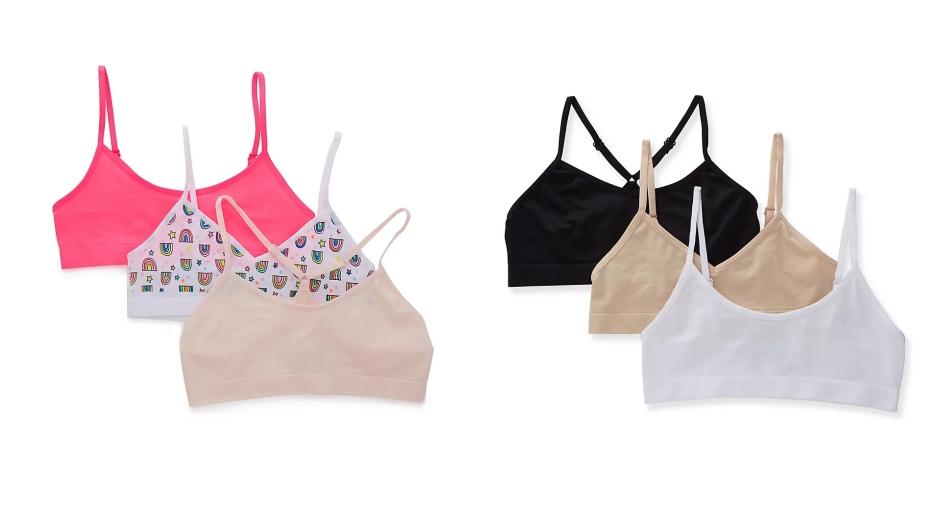 girls training bra