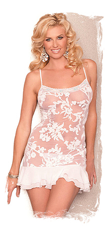 chemise in stretch lace