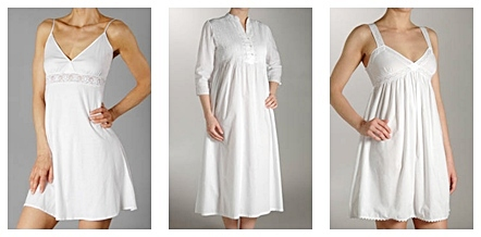 white cotton nightgowns