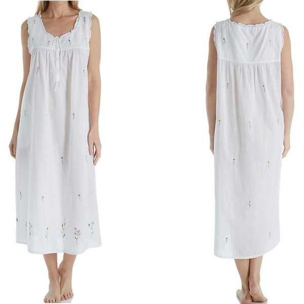 long cotton nightgowns