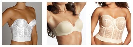 strapless backless bras