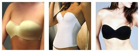 strapless push up bras