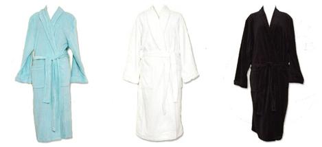 velour robes